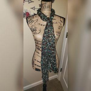 Leopard print & Skull scarf